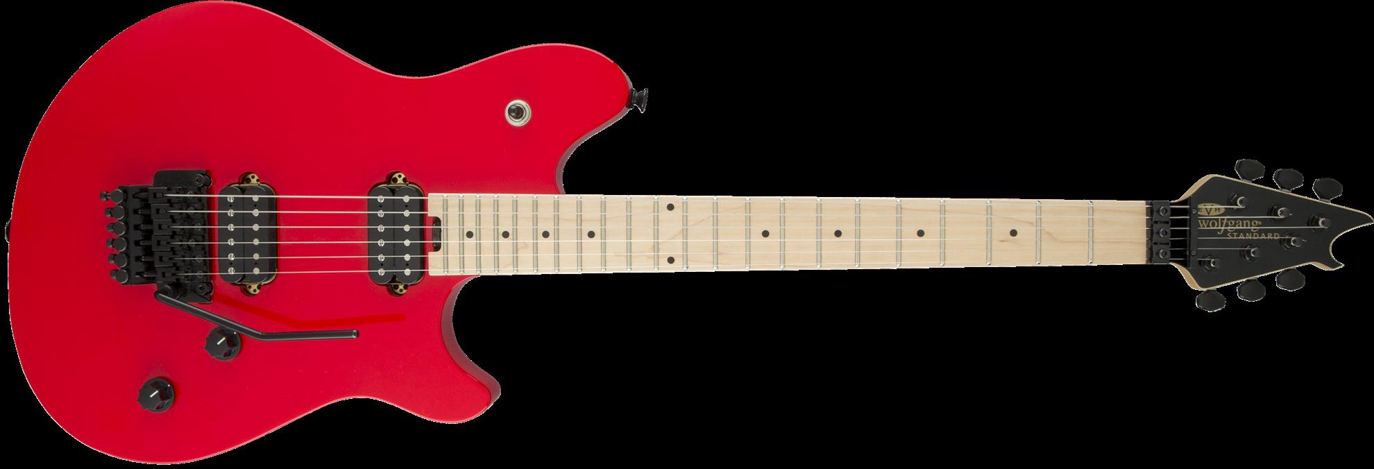 evh wolfgang standard hh floyd rose maple neck electric guitar ferrari red perth mega music. Black Bedroom Furniture Sets. Home Design Ideas