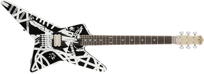 EVH Striped Series Electric Guitar Star Black & White Stripes