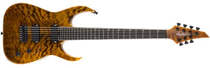 Jackson USA Signature Misha Mansoor Juggernaut HT7 7-String Electric Guitar Amber Tiger Eye