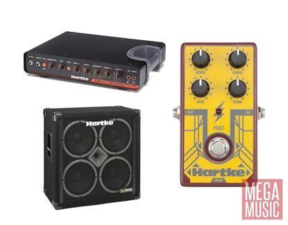Hartke TX600 Bass Amp Head VX410 Speaker Cabinet Fuzz Pedal Dirty 30 Bass Rig Deal