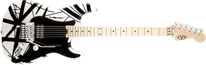 EVH Striped Series Electric Guitar White w Black Stripes