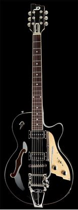 Duesenberg Starplayer TV Semi-Hollow Electric Guitar Black with Case