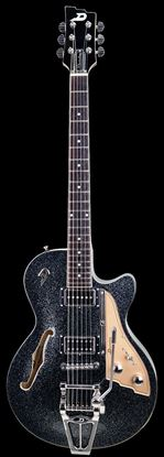 Duesenberg Starplayer TV Semi-Hollow Electric Guitar Black Sparkle with Case