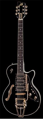 Duesenberg Starplayer TV Custom Semi-Hollow Electric Guitar Black with Case