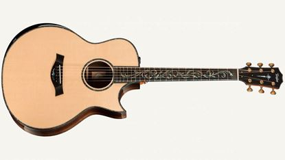 Taylor PS16ce Spruce/Macassar Ebony Presentation Series Acoustic Guitar with Pickup and Cutaway