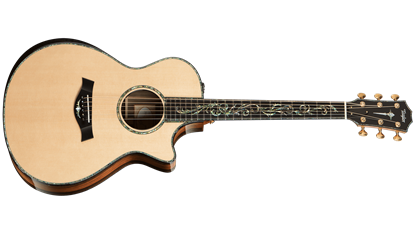 Taylor PS12ce Spruce/Macassar Ebony Presentation Series Acoustic Guitar with Pickup and Cutaway