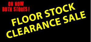 Floor Stock Clearance Sale