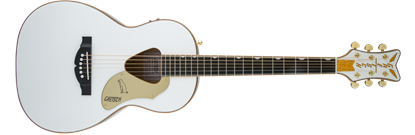 Gretsch G5021WPE Rancher Penguin Parlor Acoustic/Electric Guitar - White