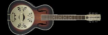 Gretsch G9241 Alligator Round-Neck Acoustic/Electric Resonator Guitar 2-Colour Sunburst