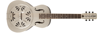 Gretsch G9231 Bobtail Square-Neck Steel Resonator Guitar w Pickup Pump House Roof Finish