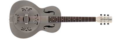 Gretsch G9201 Honey Dripper Round-Neck Brass Body Resonator Guitar Pump House Roof Finish
