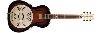 Gretsch G9240 Alligator Round-Neck Resonator Guitar 2-Colour Sunburst
