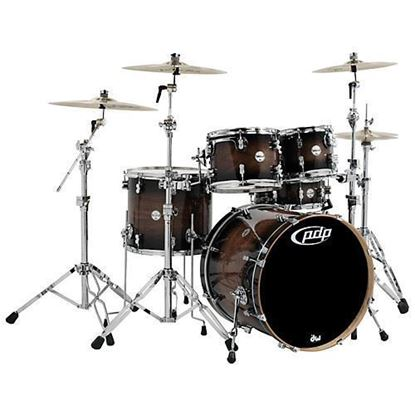 PDP Concept Maple Exotic CMX5 22 Inch 5-Piece Drum Kit Shell Pack Exotic Charcoal Burst