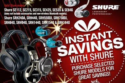 Shure HEADPHONES - INSTANT SAVINGS! Click here for headphones.