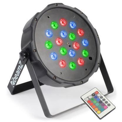 Beamz Flatpar 1Wx18 LED Tri-Colour Par Can (FLATPAR1W18)