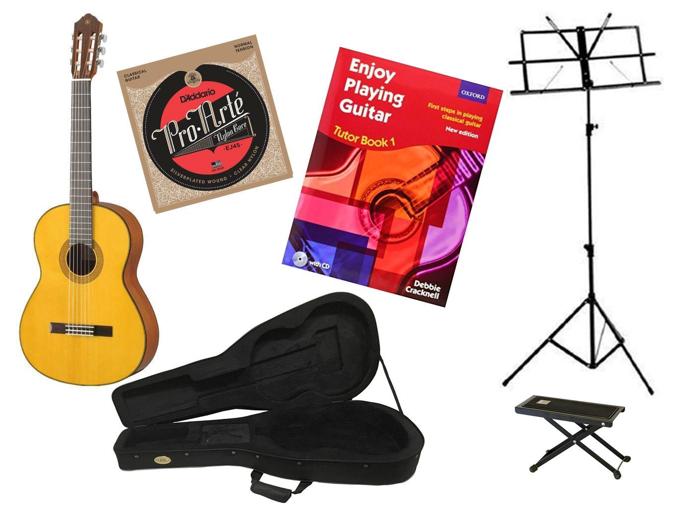 Back to School Classical Guitar Premium Bundle Essential SIMS Pack (Yamaha CG142S)