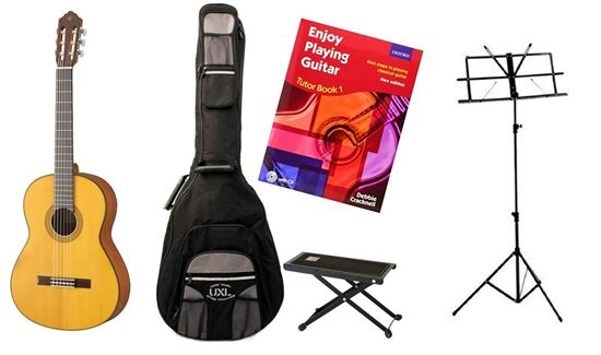 Back to School Classical Guitar Starter Bundle Essential SIMS Pack (Yamaha CG122MS)