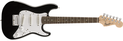 Squier Mini Strat v2 Electric Guitar Black with Rosewood Fretboard