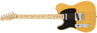 Fender American Original 50s Telecaster Electric Guitar Left Handed - Butterscotch Blonde