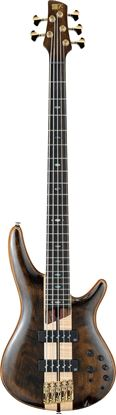 Ibanez SR1825 NTL Premium 5 String Bass Guitar in Case Natural Low Gloss