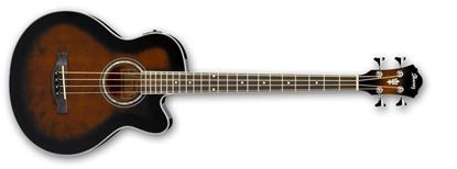 Ibanez AEB10E DVS Acoustic Bass Guitar Dark Violin Sunburst High Gloss