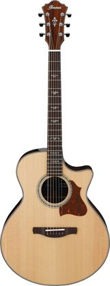 Ibanez AE510 NT Acoustic Guitar in Hard Case Natural High Gloss