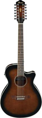Ibanez AEG1812II DVS 12 String Acoustic Guitar Dark Violin Sunburst High Gloss.
