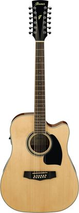 Ibanez  PF1512ECE NT 12 String Acoustic Guitar Natural High Gloss