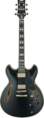 Ibanez JSM20 BKL John Scofield Signature Hollowbody Guitar in Hard Case Black Low Gloss