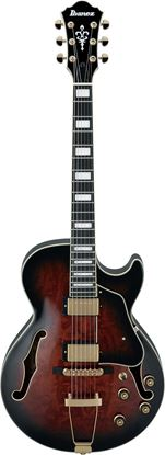 Ibanez AG95QA DBS Artcore Hollowbody Guitar Dark Brown Sunburst