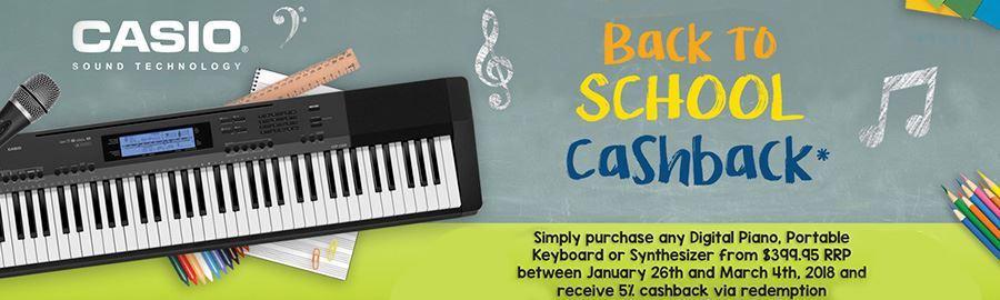 Get 5% Cashback on Your Casio Keyboard
