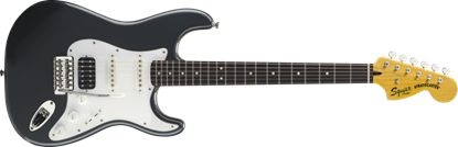 Squier Vintage Modified Stratocaster Electric Guitar HSS RW Charcoal Frost Metallic