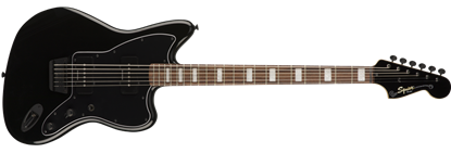 Squier Vintage Modified Jazzmaster Baritone Transparent Black