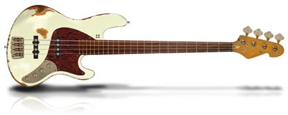 Sandberg California II TT Passive Hardcore Aged Reserve Bass Guitar with Alnico Pickups - Creme