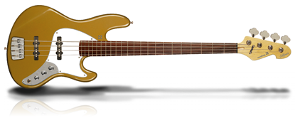 Sandberg California II TT Passive Hardcore Aged Bass Guitar - Custom Gold