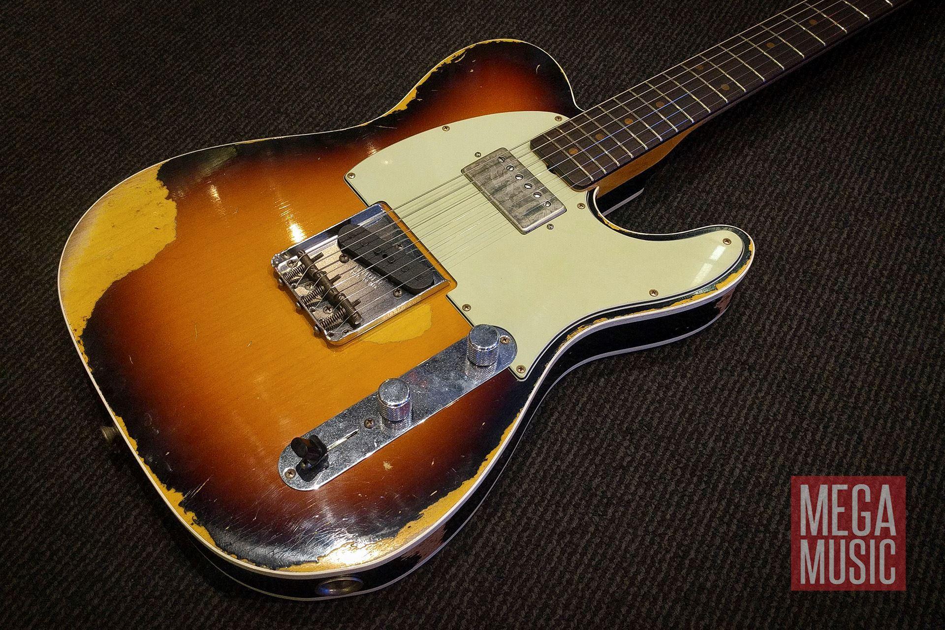 fender custom shop 39 60s heavy relic telecaster electric guitar super faded aged 3 tone sunburst. Black Bedroom Furniture Sets. Home Design Ideas