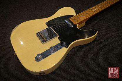 Fender Custom Shop Telecaster Electric Guitar Nocaster 1951 Relic Time Machine Blonde - body