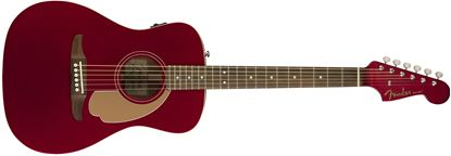 Fender California Series Malibu Player Acoustic Guitar Candy Apple Red