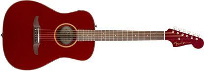 Fender California Malibu Classic Acoustic Guitar - Hot Rod Red Metallic