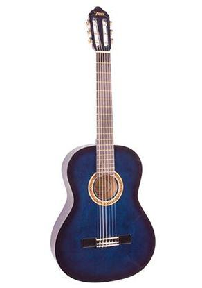 Valencia VC102BUS 1/2 Size Classical Guitar - Blue Sunburst