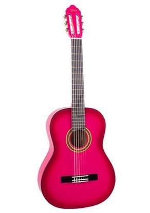 Valencia VC102PKS 1/2 Size Classical Guitar - Pink Sunburst