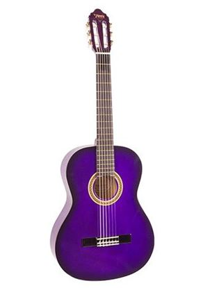 Valencia VC102PPS 1/2 Size Classical Guitar - Purple Sunburst