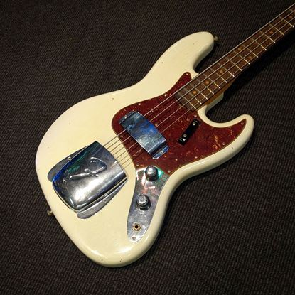 Fender Custom Shop 1960 Jazz Bass Journeyman Relic Electric Bass Guitar Aged Olympic White 9235000546 - body