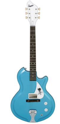 Supro Island Series Sahara Solid Body Electric Guitar Wedgewood Blue