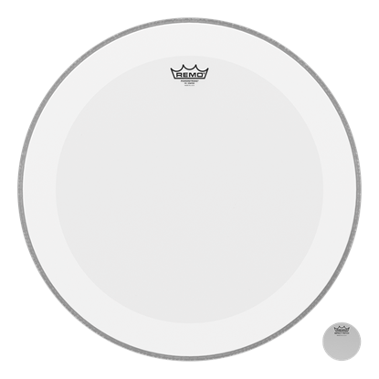 Remo Powerstroke 4 Coated 24 Inch Bass Drumhead with Falam Patch