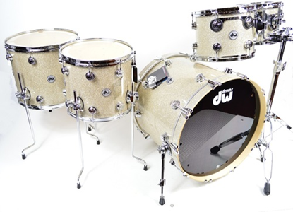 DW Collectors Series Pure Maple 5-Piece Virgil Donati Drum Kit Broken Glass