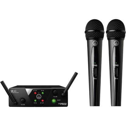 AKG WMS40 Mini Dual Vocal Set Wireless Microphone (Band A/C)