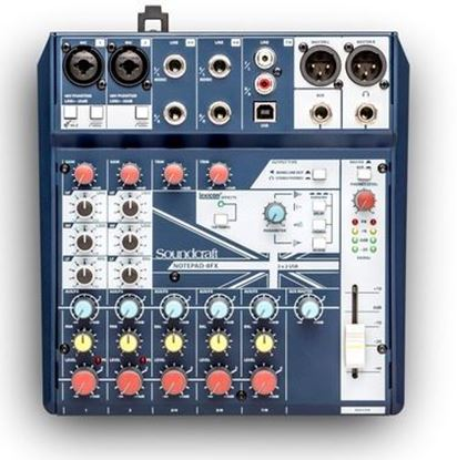 Soundcraft Notepad-8FX Small-Format Analog Mixing Console w USB I/O and Lexicon Effects