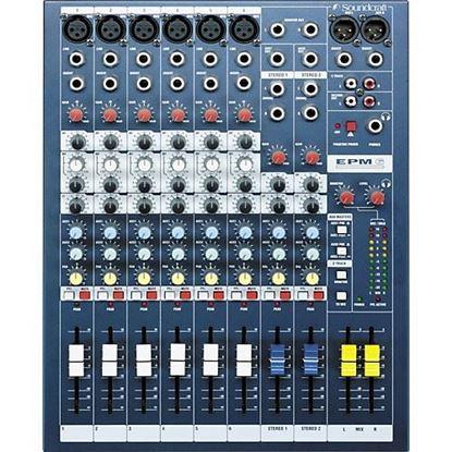 Soundcraft EPM6 Professional 6-Mono 2-Stereo Input Analog Mixing Console