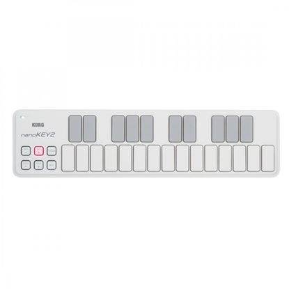 Korg nanoKEY2 Slim-line USB Keyboard (White)